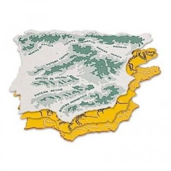 PLANTILLA PLASTICO MAPA DE ESPAÑA BOLSA DE 3 22X18 TAMAÑO GRANDE FAIBO