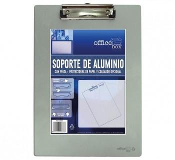 SOPORTE DE ALUMINIO OFFICE BOX CON PINZA Y COLGADOR