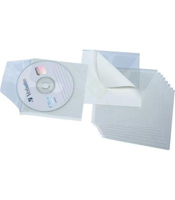 GRAFOPLAS BOLSA 10 FUNDAS DC/DVD ADHESIVAS PVC
