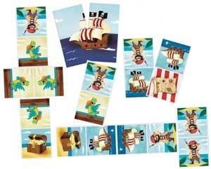 DOMINO-PUZZLE DE PIRATAS REVERSIBLE