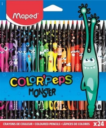 LAPICEROS MONSTERS COLOR PEPS CAJA DE 24
