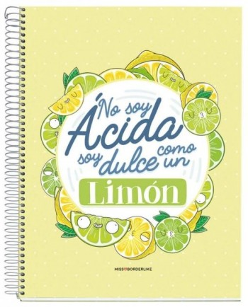 CUADERNO A4 NOTEBOOK 1 MISSBORDERLIKE - NO SOY LIMON