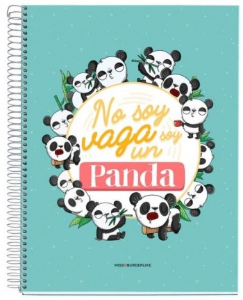 CUADERNO A4 NOTEBOOK 1 MISSBORDERLIKE - NO SOY PANDA