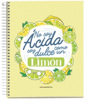 CUADERNO A5 NOTEBOOK 1 MISSBORDERLIKE - NO SOY LIMON