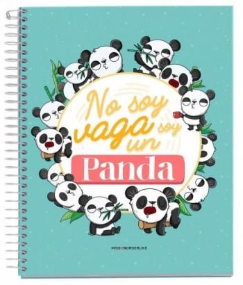 CUADERNO A5 NOTEBOOK 1 MISSBORDERLIKE - NO SOY PANDA