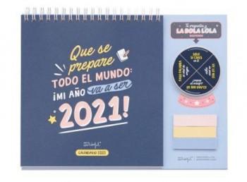 CALENDARIO DE SOBREMESA WONDERFUL 2021
