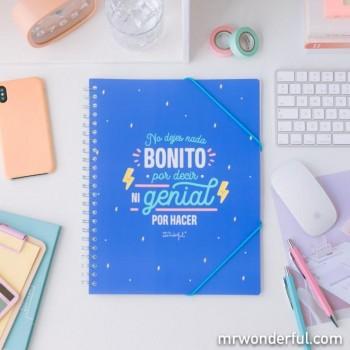 CARPETA DE FUNDAS CON ESPIRAL WONDERFUL -  NO DEJES NADA BONITO POR DECIR