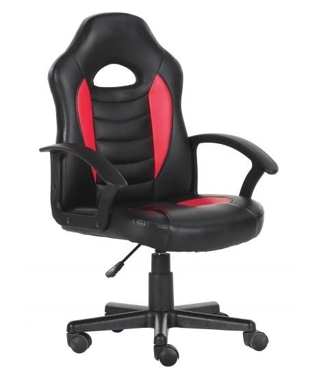 Silla gaming simil piel negro-rojo