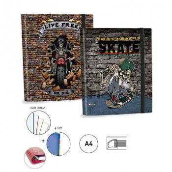 CARPETA RINGBOOK A4 KATACRAK RADIKAL SENFORT