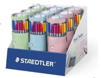 STAEDTLER ESTUCHE ENROLLABLE 20 TRIPLUS FINELINER COLORES PASTEL