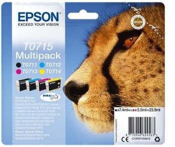 CARTUCHO EPSON PACK 4 COLORES INKJET T071540