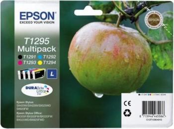 EPSON CARTUCHO T1295 INKJET TINTA PACK 4 COLORES NEGRO, CIAN, MAGENTA Y AMARILLO