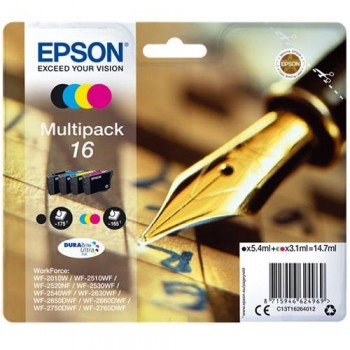 EPSON CARTUCHO 16 TRICOLOR INYEC WF-2010 PACK 4