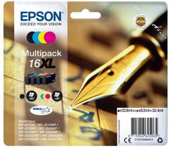 EPSON MULTIPACK CARTUCHOS INYEC WF-2010 4 COLORES 16XL