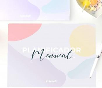 PLANIFICADOR MENSUAL ABSTRACT